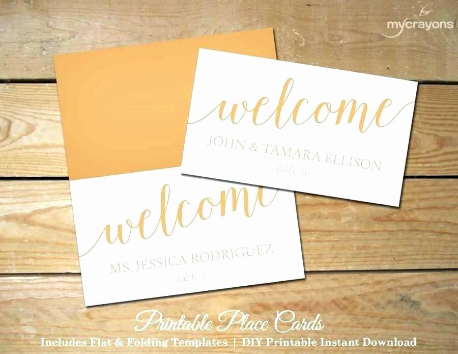 Folded Name Card Template Awesome Folding Place Card Template Free Folding Place Card