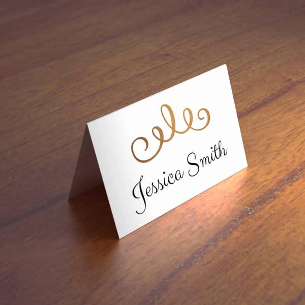 Folded Name Card Template Beautiful 22 Name Card Templates