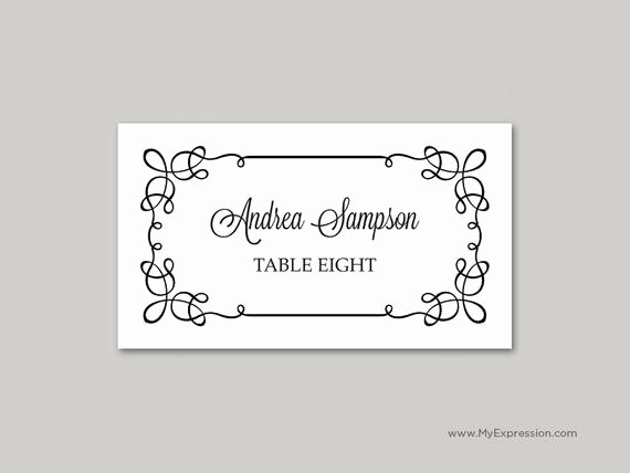 Folded Name Card Template Fresh Download Folded Name Place Cards Template Free Hopeinternet