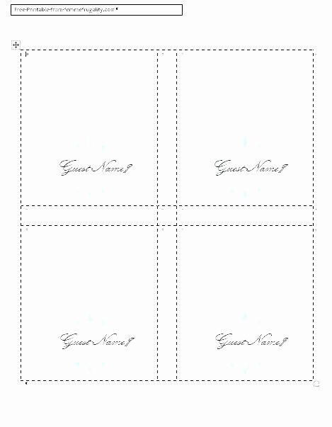 Folded Name Card Template Fresh Table Name Cards Place Template Printable Folded Wedding