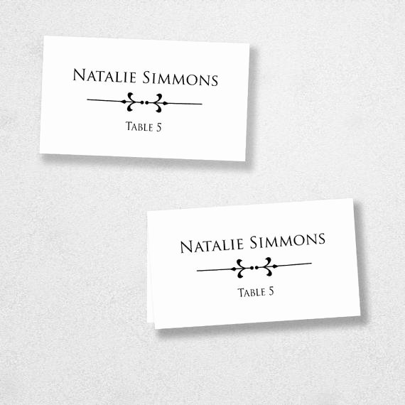 Folded Name Card Template Inspirational Printable Place Card Template Instant Download Escort Card