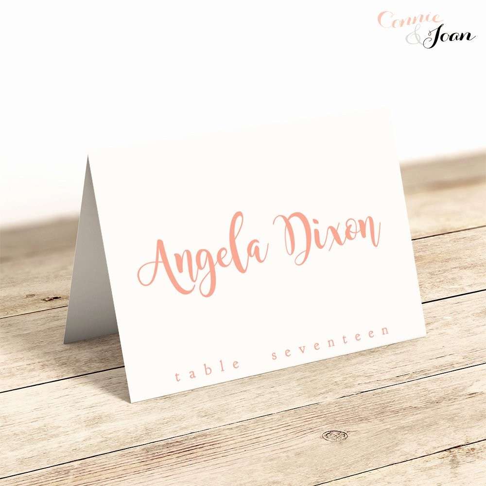Folded Name Card Template Lovely Printable Folded Place Cards Table Name Cards Template