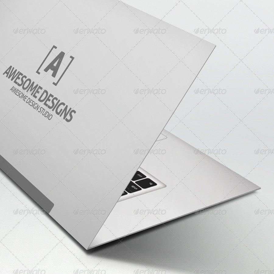 Folding Business Card Template Beautiful Mybook Pro Folded Business Card Template by Zeppelin