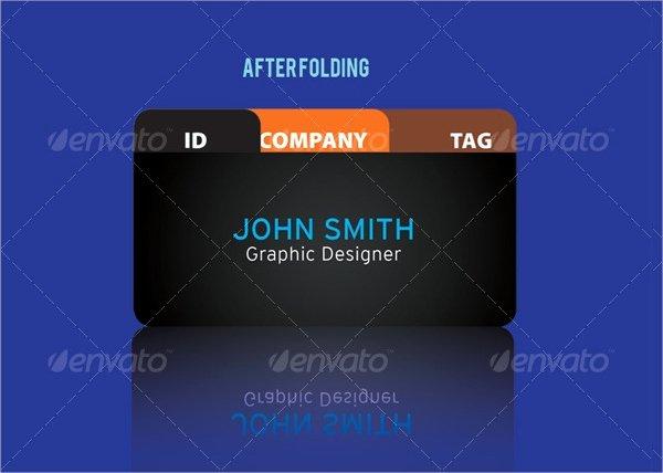 Folding Business Card Template Inspirational 22 Folded Business Cards Psd Ai Vector Eps