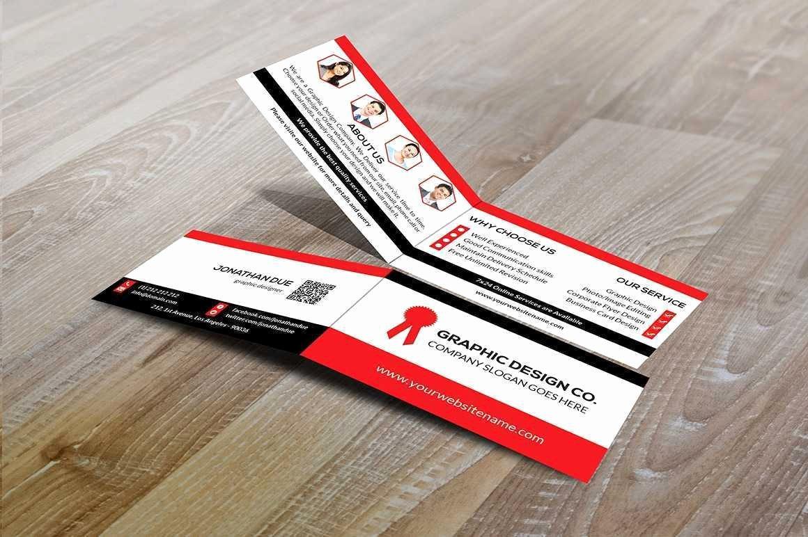 Folding Business Card Template Lovely Folding Business Card Template Unique Folded Business Card