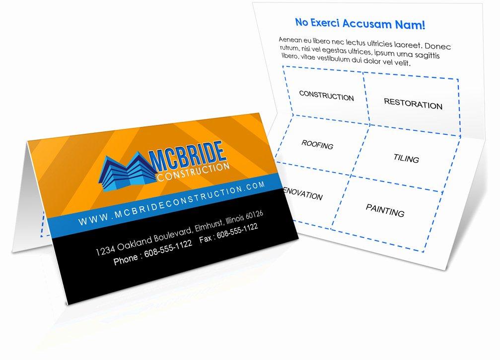 Folding Business Card Template Luxury Foldover Business Card Mockup
