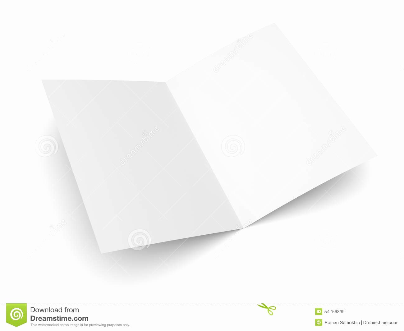 Folding Business Card Template New Blank Folded Flyer Booklet Postcard Business Card