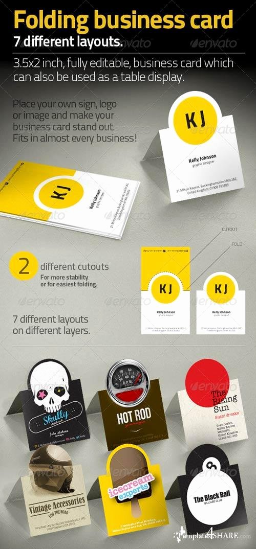 Folding Business Cards Template Best Of Graphicriver Folding Business Card Templates4share