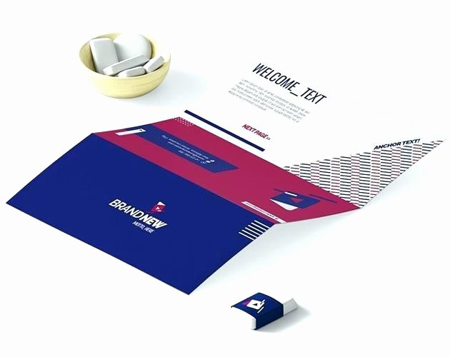 Folding Business Cards Template Elegant Tri Folded Business Cards