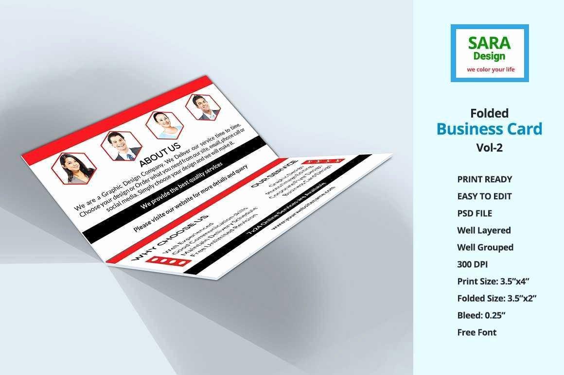 Folding Business Cards Template Lovely Folded Business Cards Template Fresh Corporate Folded
