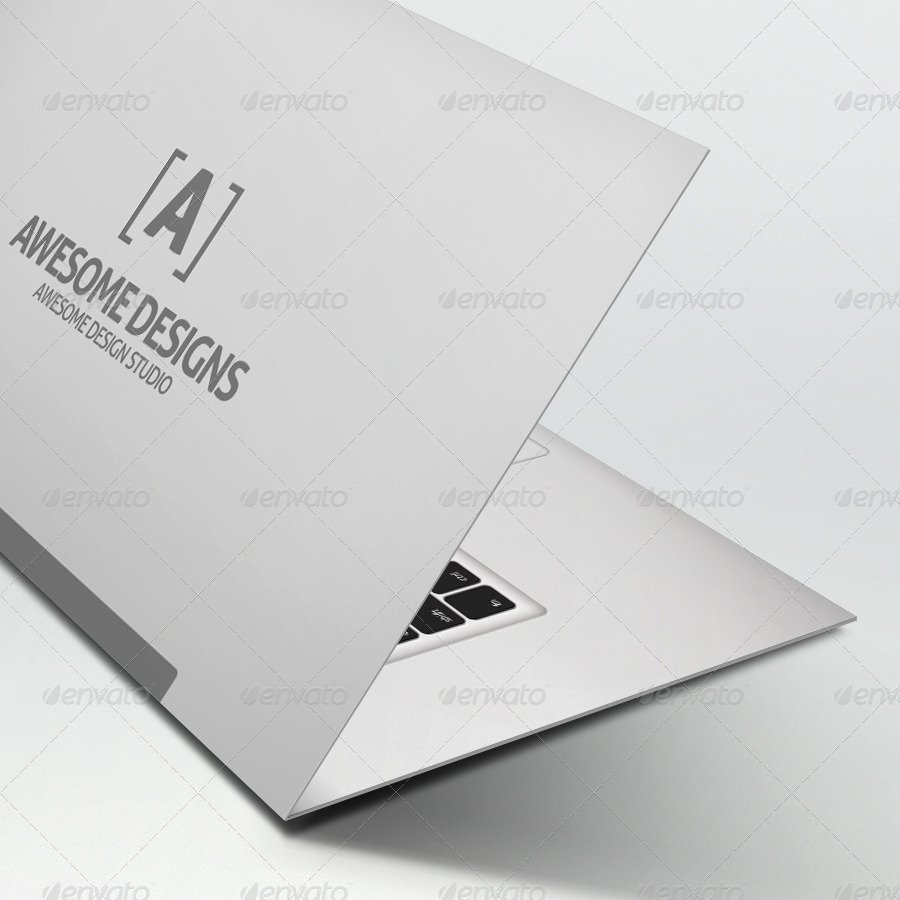 Folding Business Cards Template Luxury Mybook Pro Folded Business Card Template by Zeppelin