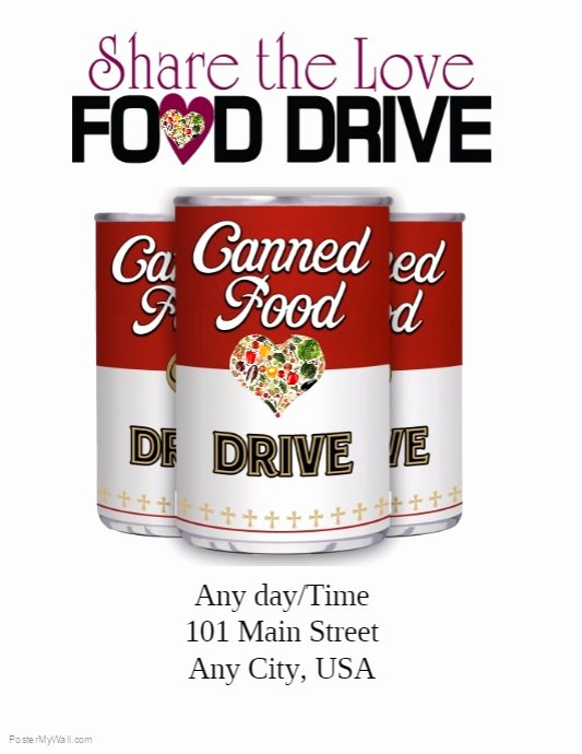Food Drive Flyer Template Awesome Food Drive Template
