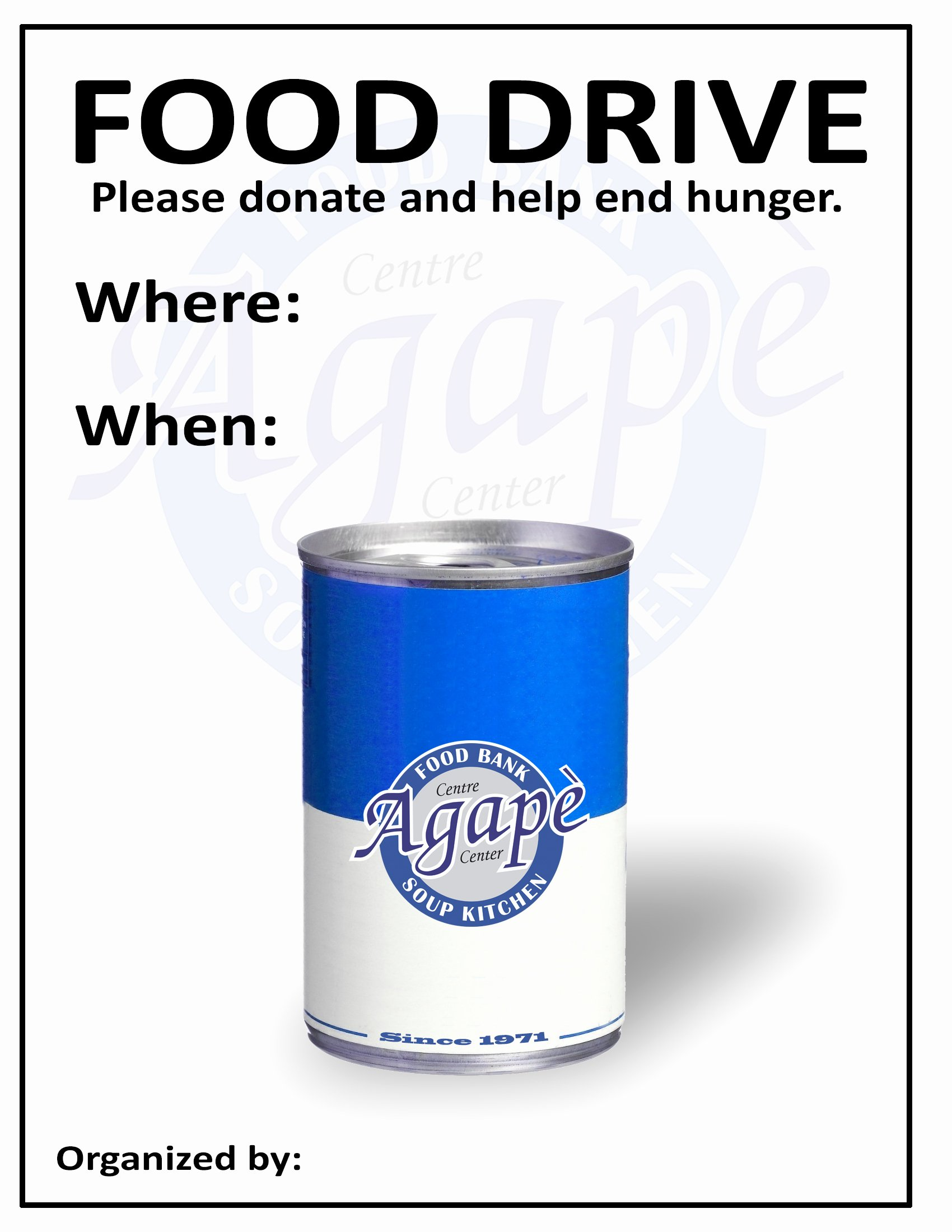 Food Drive Flyer Template Awesome Host A Food Drive