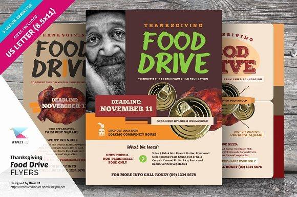 Food Drive Flyer Template Beautiful Thanksgiving Food Drive Flyers Flyer Templates
