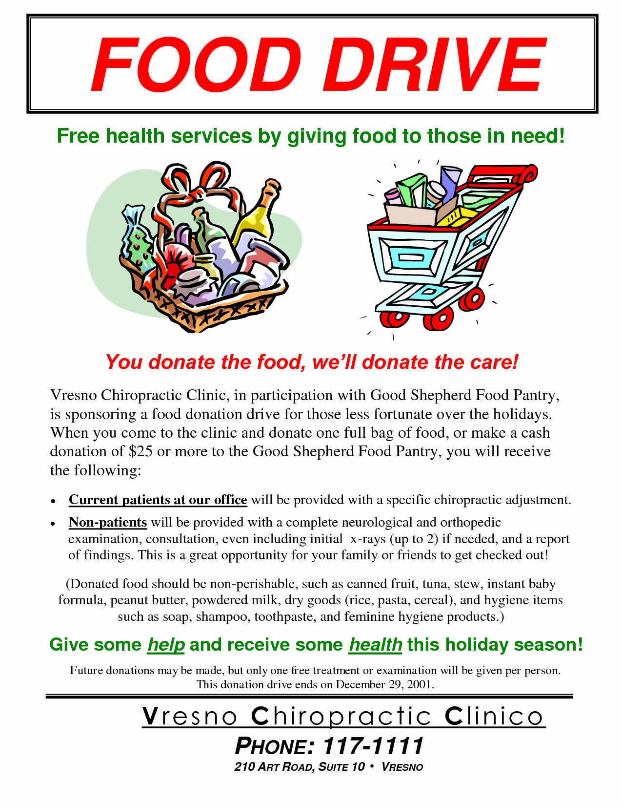 Food Drive Flyer Template Best Of Can Food Drive Flyer Template Portablegasgrillweber