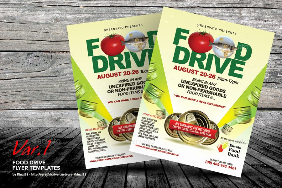 Food Drive Flyer Template Fresh Food Drive Flyer Templates by Kinzi21