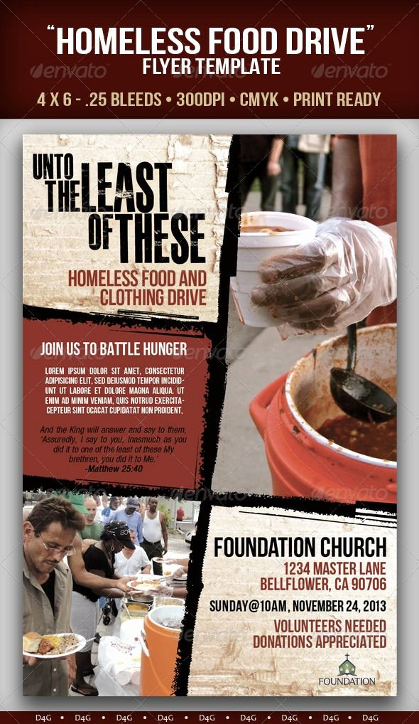 Food Drive Flyer Template Inspirational Homeless Food Drive Flyer Template