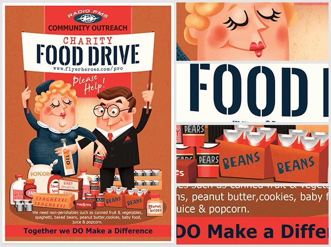 Food Drive Flyer Template Luxury Charity Food Drive Flyer Template Flyerheroes