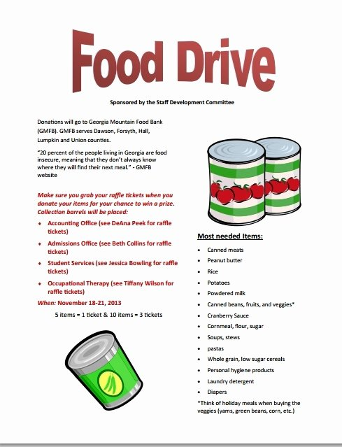 Food Drive Flyer Template New Food Drive Poster Template Invitation Template