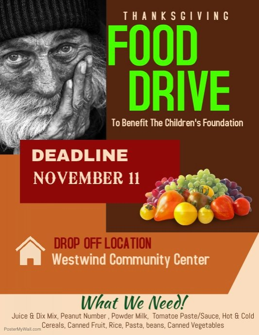 Food Drive Flyer Template New Food Drive Template
