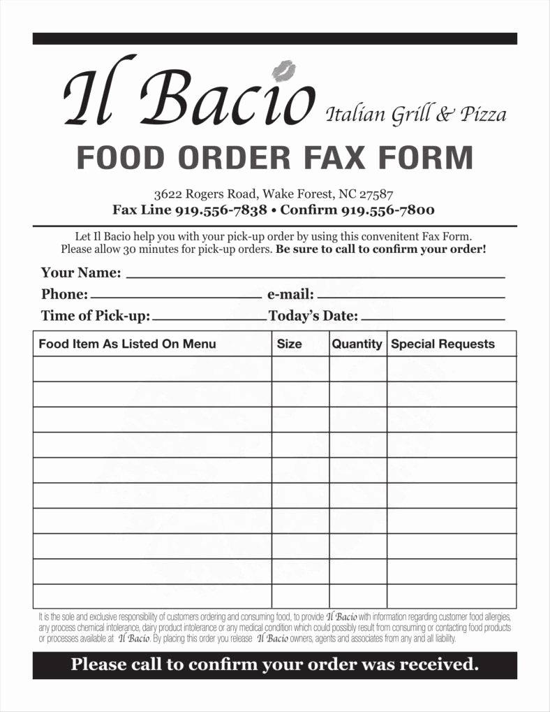 Food order form Template Inspirational 9 Food order form Templates Free Samples Examples