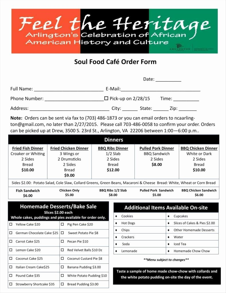 Food order form Template New 9 Food order form Templates Free Samples Examples