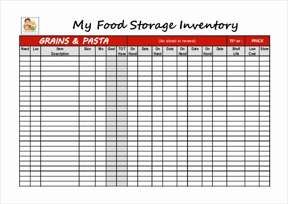 Food Production Sheet Template Beautiful 12 Food Inventory Templates – Free Sample Example