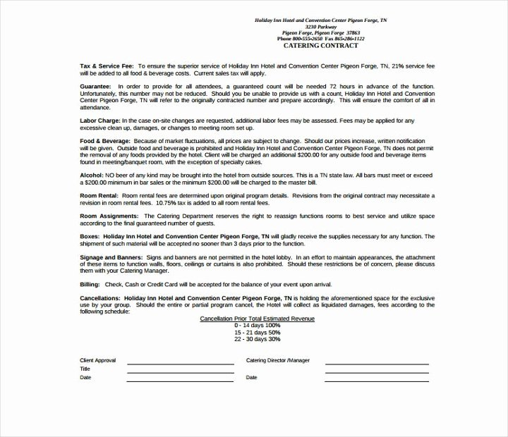 Food Service Contract Template Fresh 13 Food Service Contract Templates for A Restaurant Cafe
