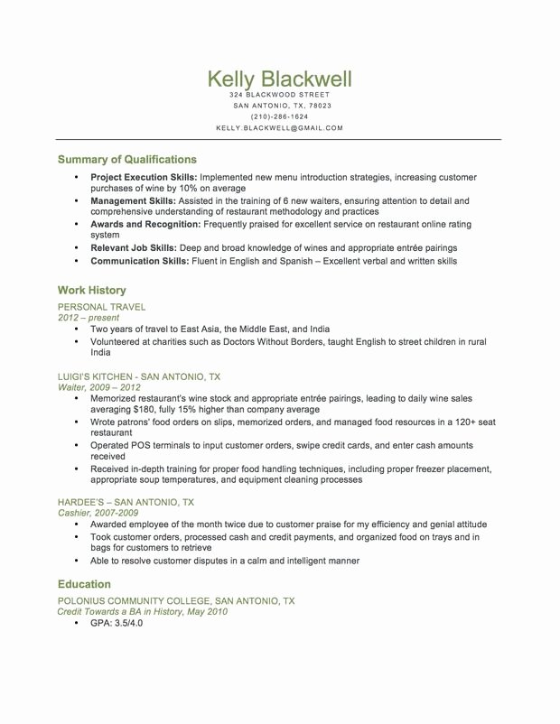 Food Service Resume Template Awesome Bination Food Service Resume