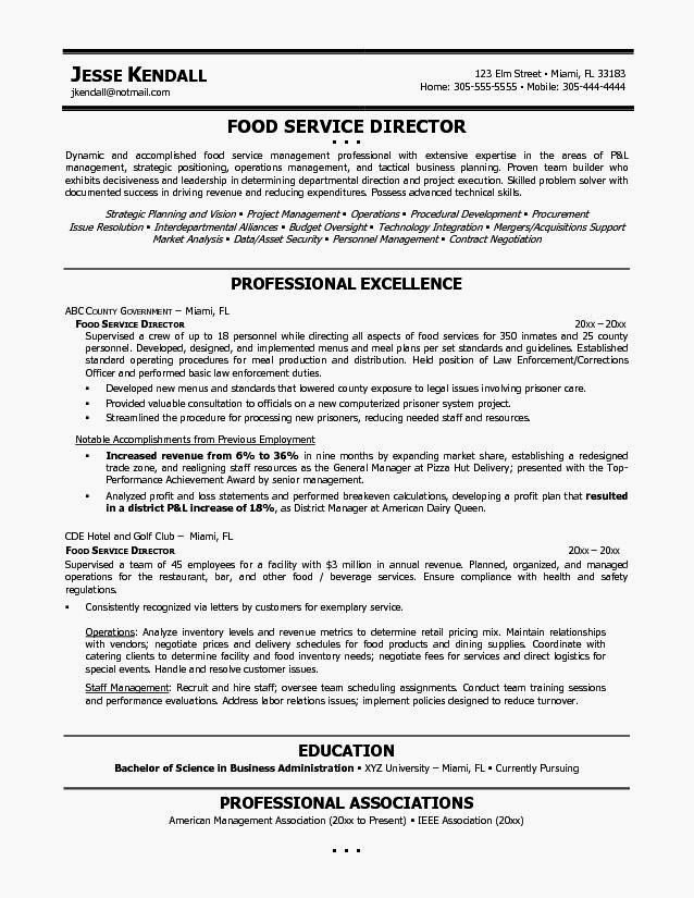 Food Service Resume Template Inspirational Example Resume Food Service Resume Template