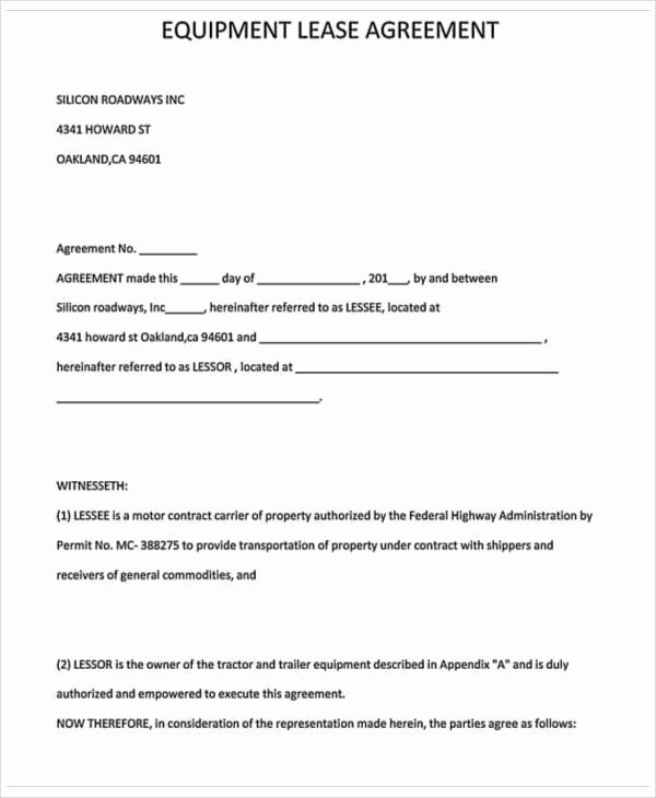 Food Truck Contract Template Lovely Truck Driver Lease Agreement