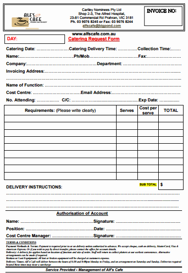 Food Truck Contract Template Unique 28 Catering Invoice Templates Free Download Demplates
