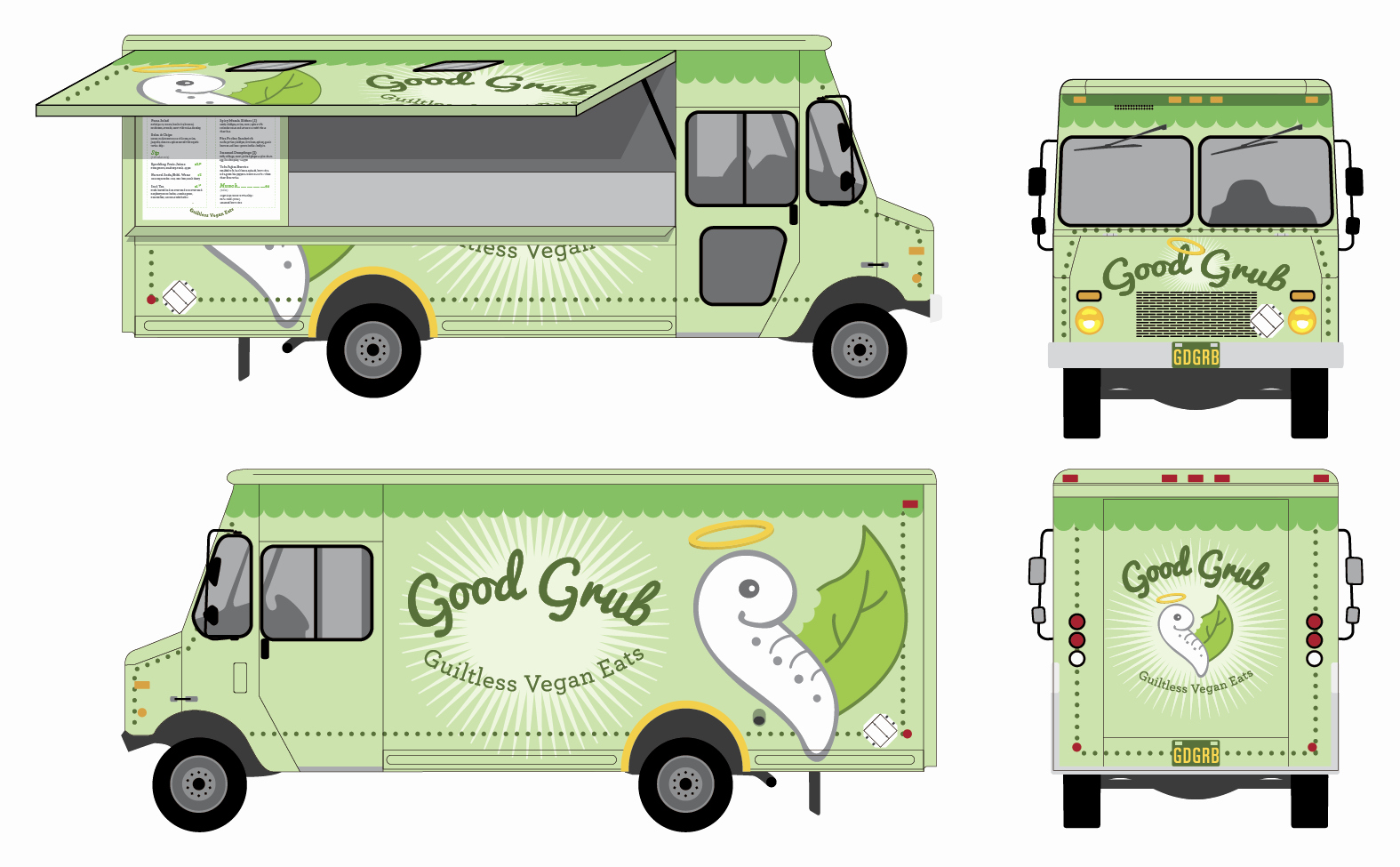 Food Truck Design Template Beautiful Christine Rivera Grd Blg Good Grub Food Truck Wrap