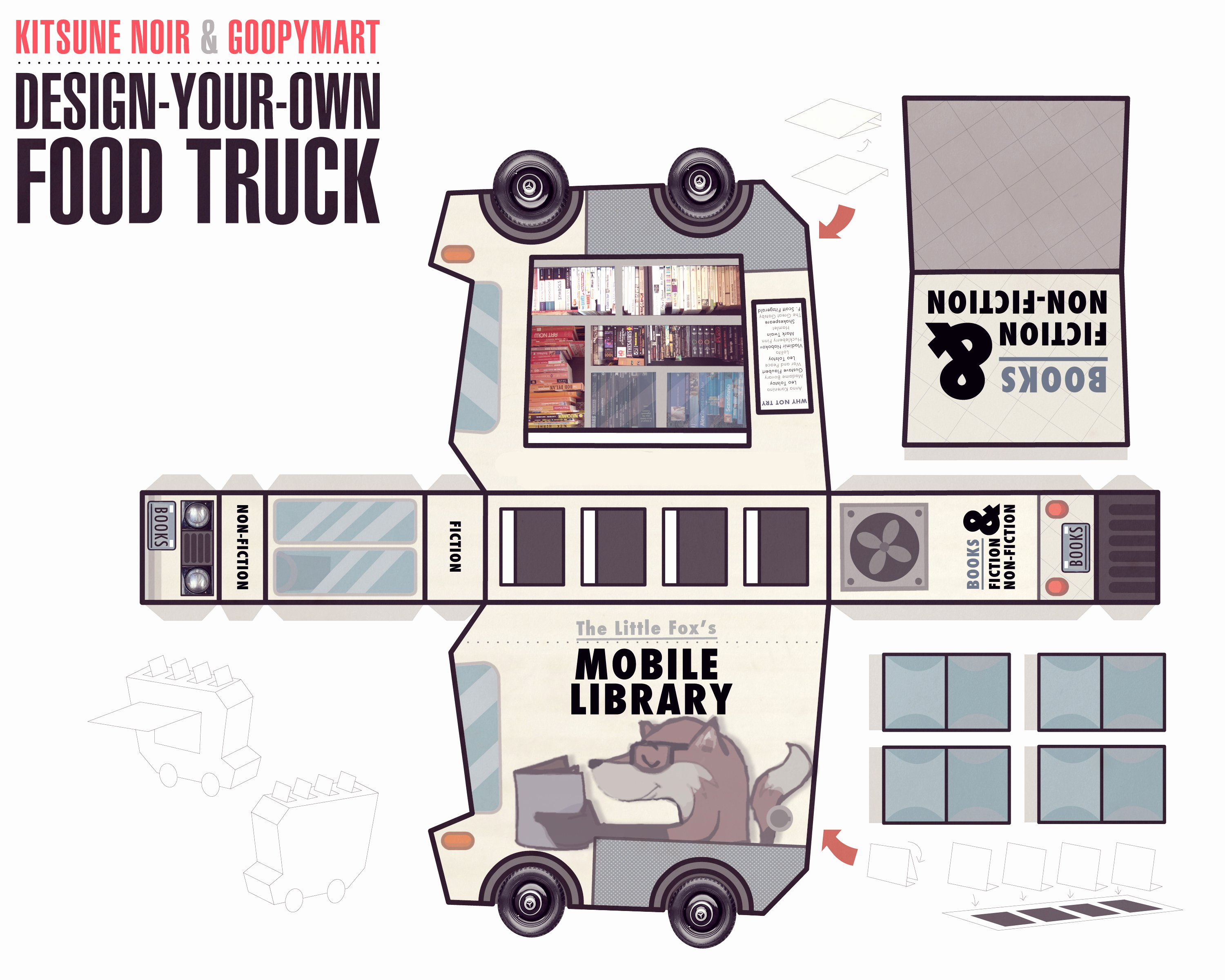 Food Truck Design Template Elegant Kitsune Noir & Goopymart Food Truck Winners the Fox is Black