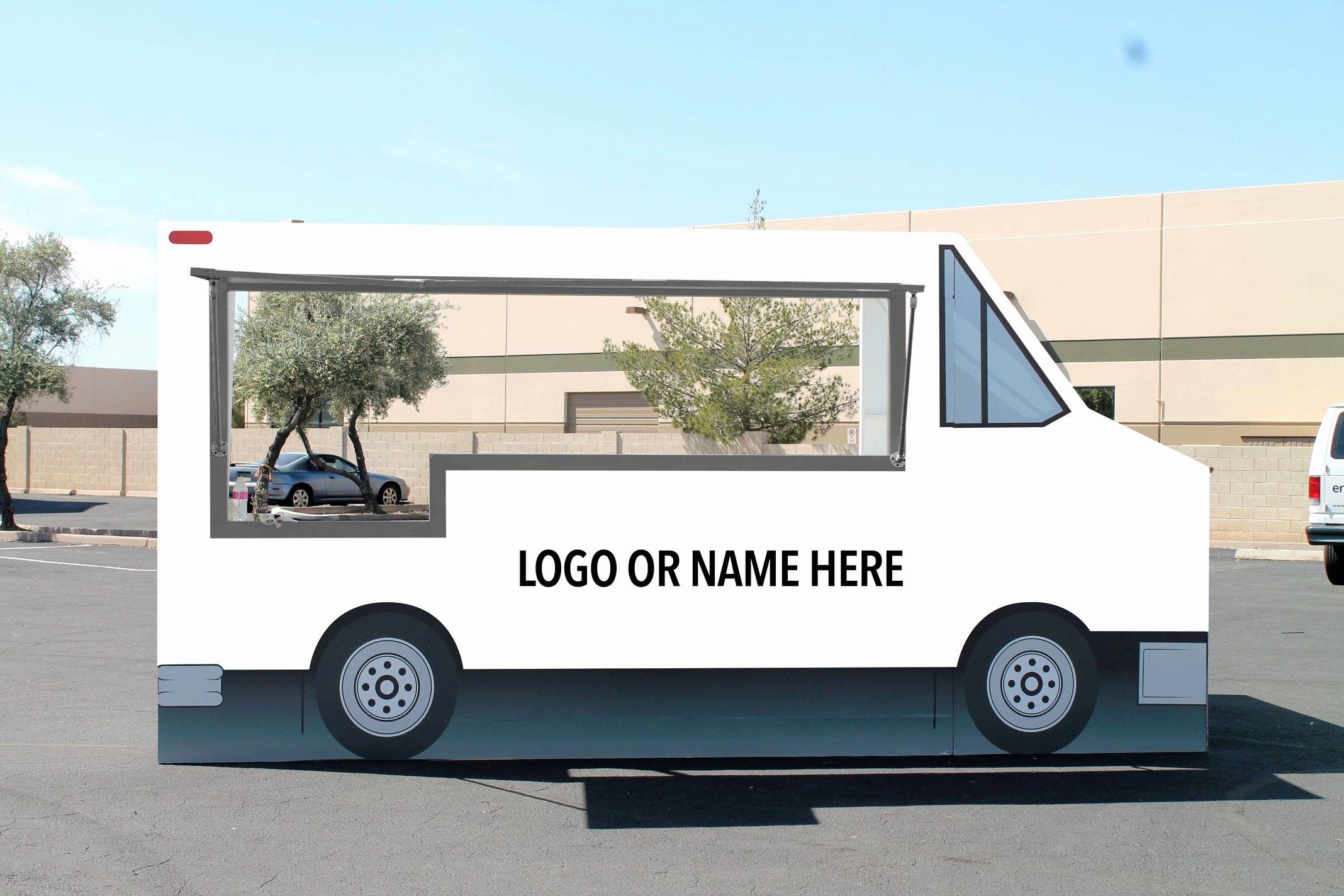 Food Truck Design Template Inspirational Encore Food Truck Facade Blank Encore Creative