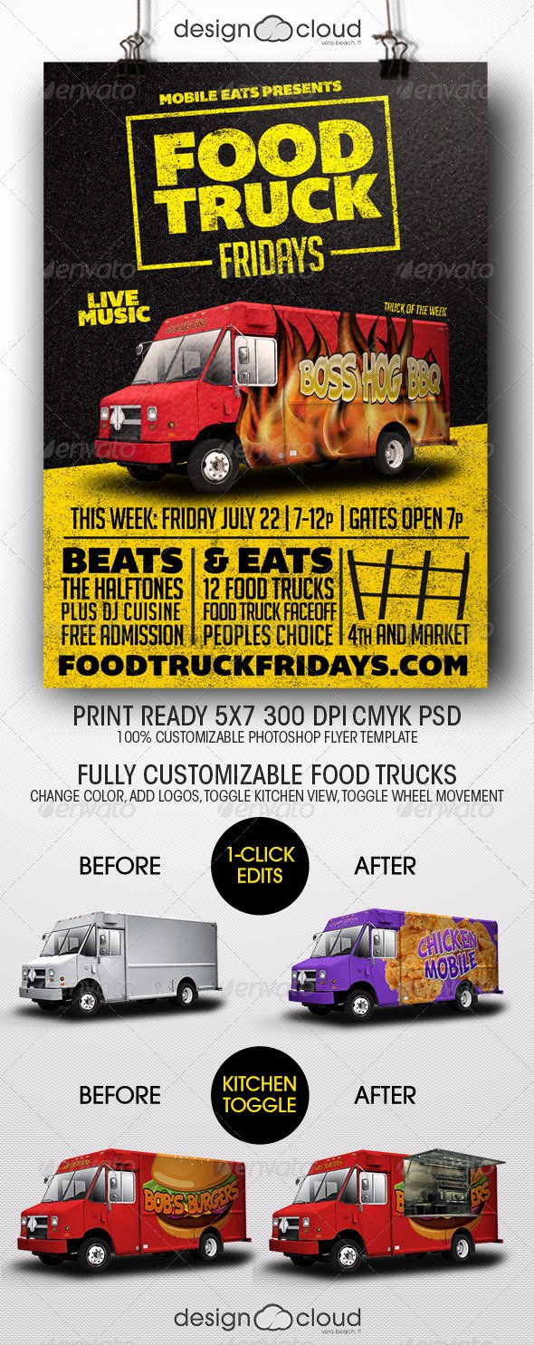 Food Truck Design Template Lovely Food Truck Fridays Flyer Template by Design Cloud