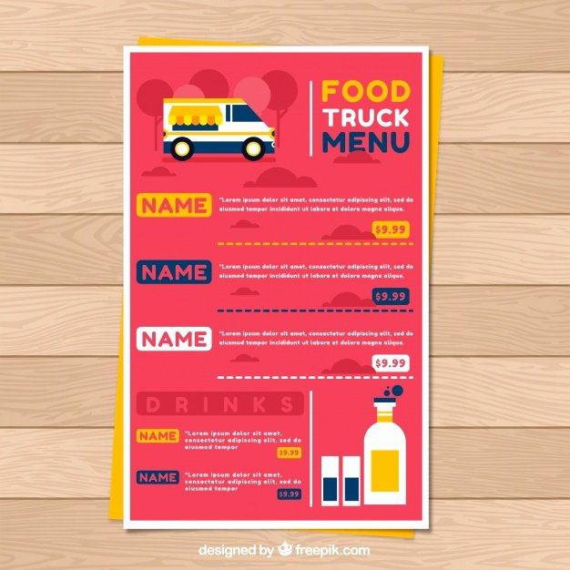 Food Truck Design Template Lovely Food Truck Vectors S and Psd Files