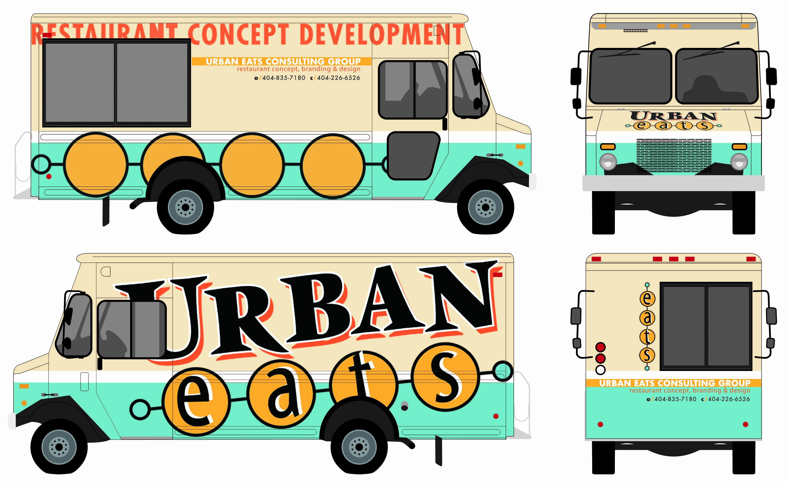Food Truck Design Template New Food Truck Autward Design