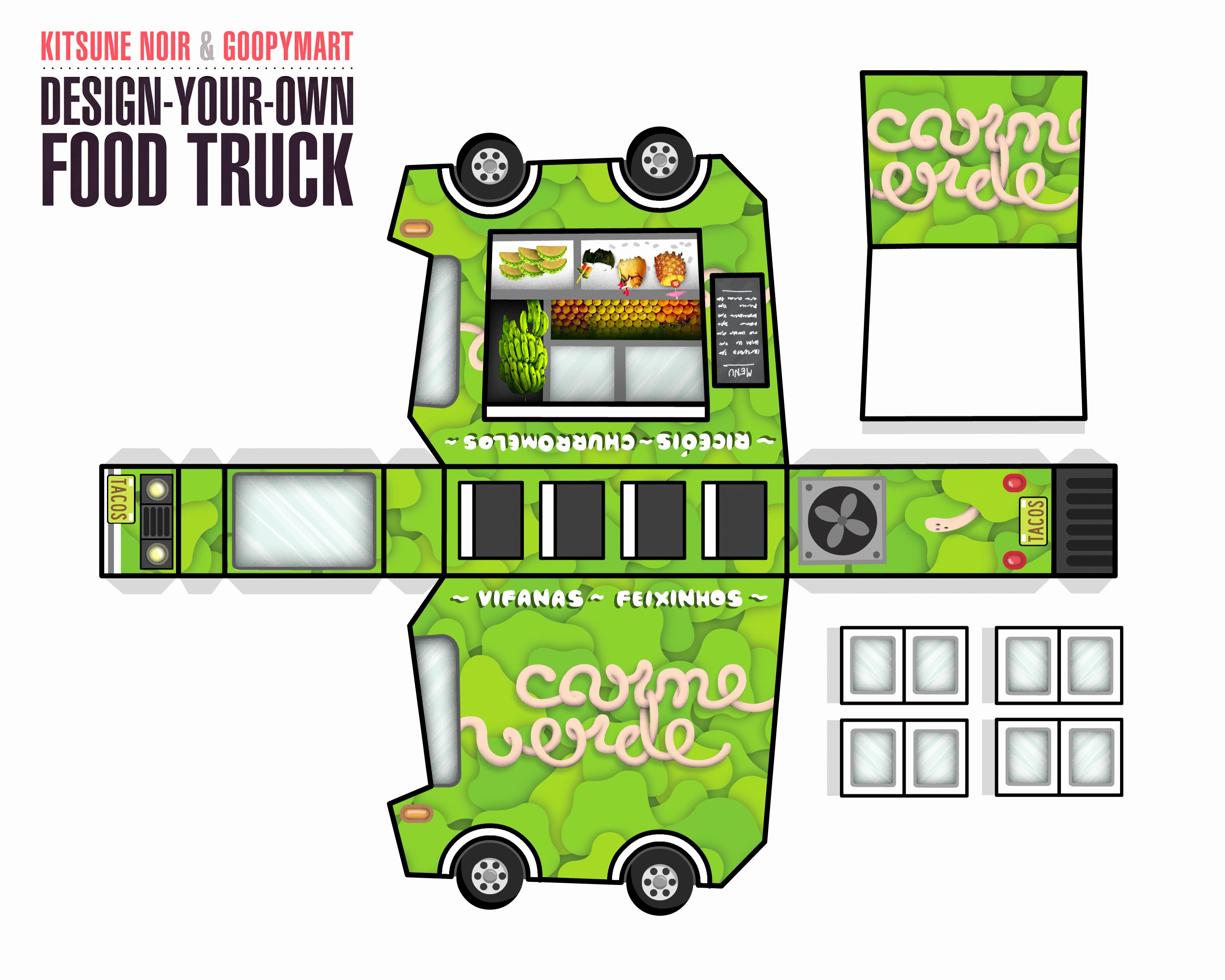 Food Truck Design Template New Kitsune Noir & Goopymart Food Truck Winners the Fox is Black