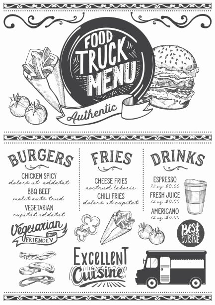 Food Truck Menu Template Beautiful Royalty Free Food Truck Festival Clip Art Vector