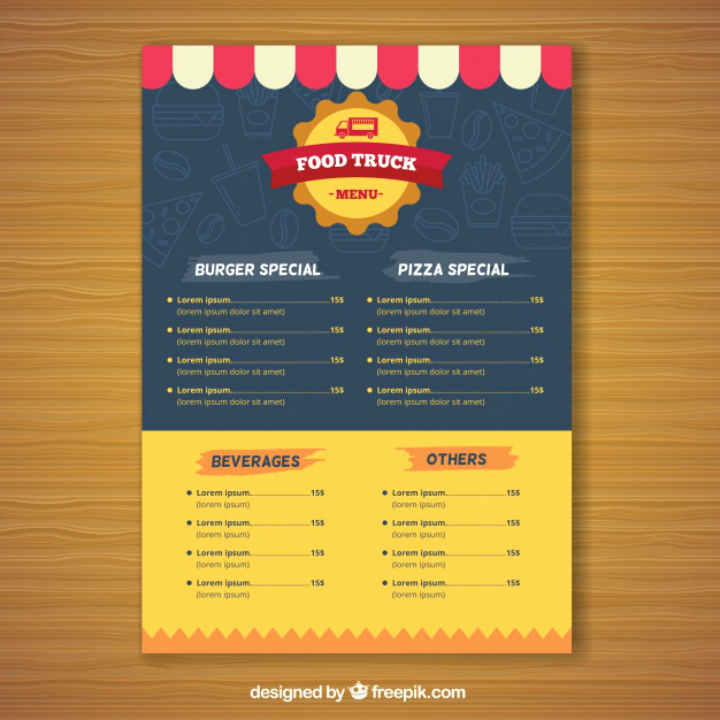 Food Truck Menu Template Best Of 15 Best Product Menu Templates Psd Ai