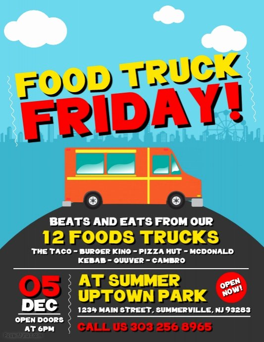 Food Truck Menu Template Best Of Copy Of Food Truck Friday Flyer