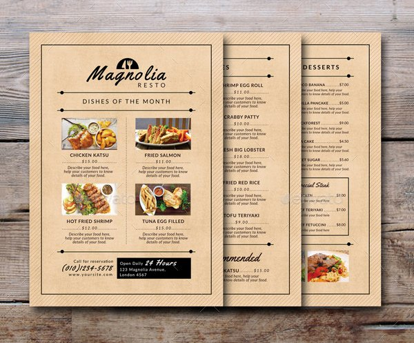 Food Truck Menu Template Fresh 21 Food Truck Menu Templates Free & Premium Download