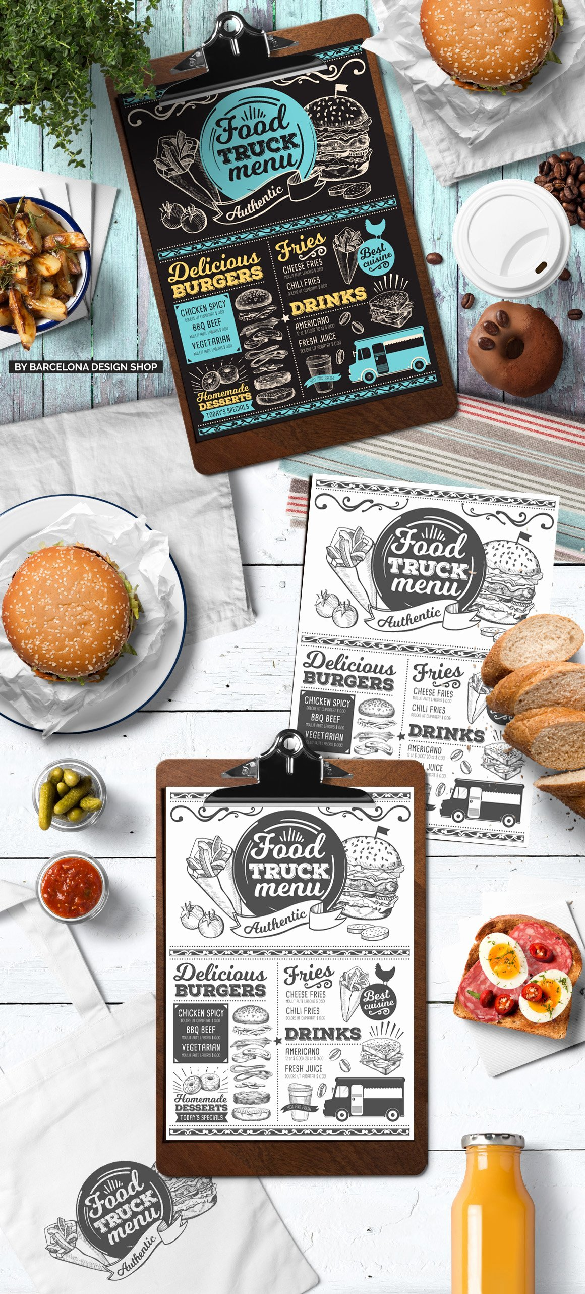 Food Truck Menu Template Inspirational Food Truck Menu Template Brochure Templates Creative