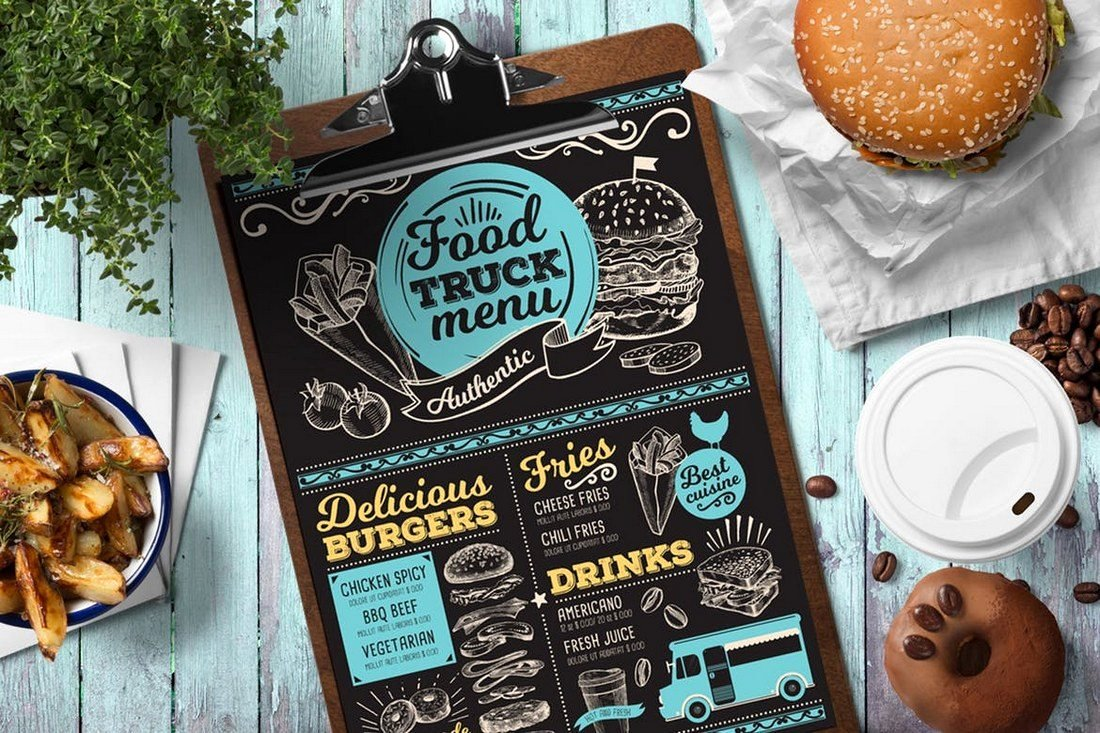 Food Truck Menu Template Lovely 50 Best Food & Drink Menu Templates