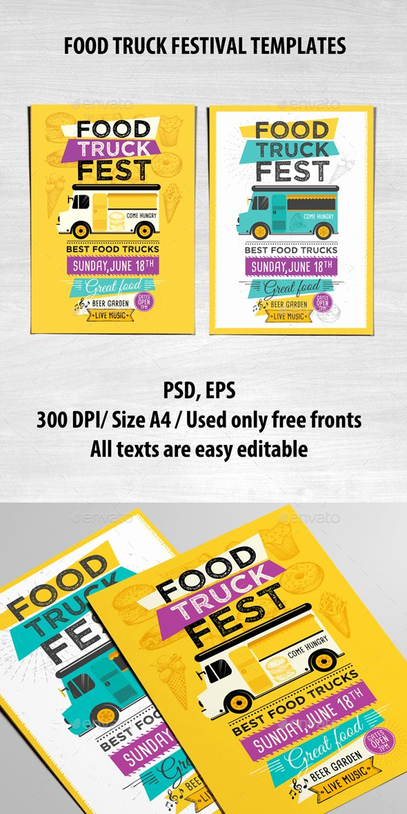 Food Truck Menu Template Lovely Food Truck Template by Barcelonadesignshop