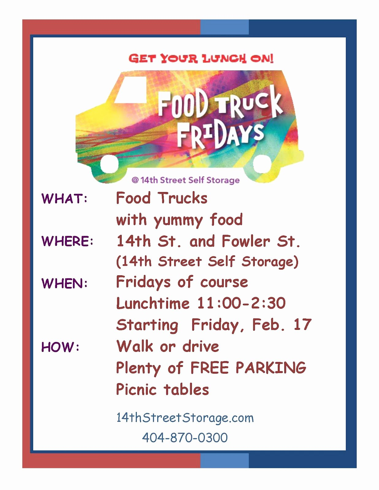 Food Truck Menu Template Luxury Everything Midtown atlanta Food Truck Friday S at 14th