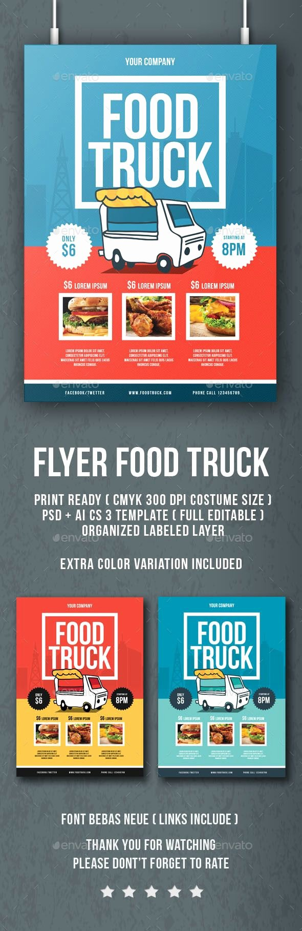 Food Truck Menu Template Unique Flyer Food Truck Flyers Print Templates