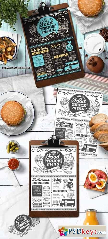 Food Truck Menu Template Unique Food Menus Free Download Shop Vector Stock Image