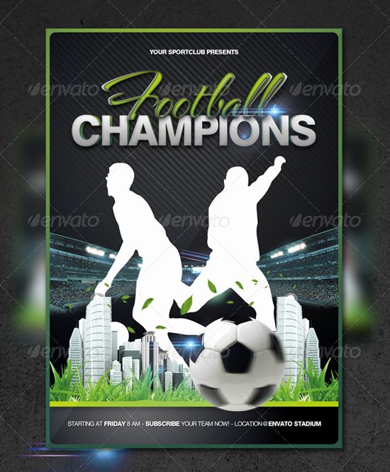 Football Flyer Template Free Best Of top 20 soccer Football Flyer Templates 56pixels